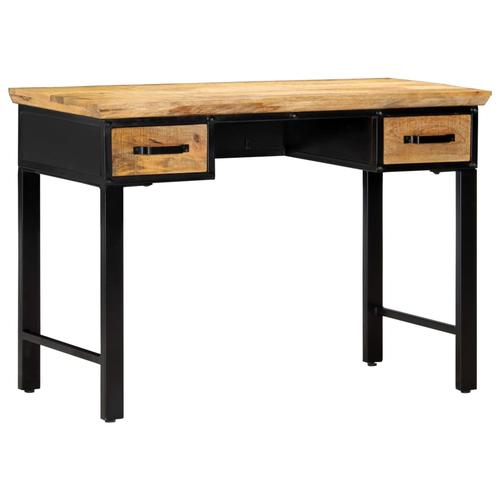 vidaXL Schreibtisch 110 x 50 x 76 cm Mangoholz Massiv