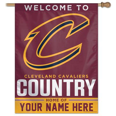 """""""WinCraft Cleveland Cavaliers Personalized 27'' x 37'' 1-Sided Vertical Banner"""""""