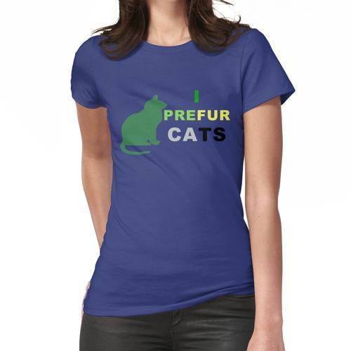 AROMANTISCHES I PREFUR CATS AROMANTISCHES T-SHIRT GRÜNER KATZE Frauen T-Shirt