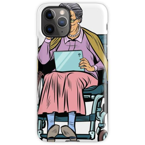 ältere Frau behinderte Person im Rollstuhl iPhone 11 Pro Handyhülle