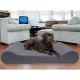 FurHaven Microvelvet Luxe Lounger Memory Foam Dog Bed w/Removable Cover, Gray, Giant