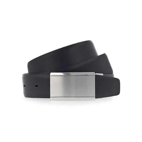 Vanzetti Koppelgürtel, mit satinierter glänzender Schließe schwarz Damen Ledergürtel Gürtel Accessoires Koppelgürtel