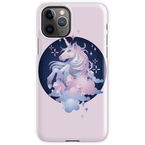 Pastellrosa und blaues magisches Kristalleinhorn iPhone 11 Pro Handyhülle