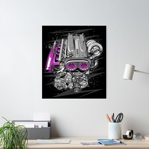 Nissan RB26 Motor Poster