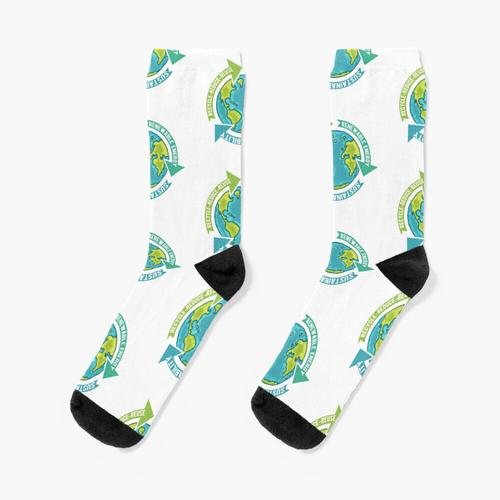 Nachhaltigkeit auf der Erde Socken