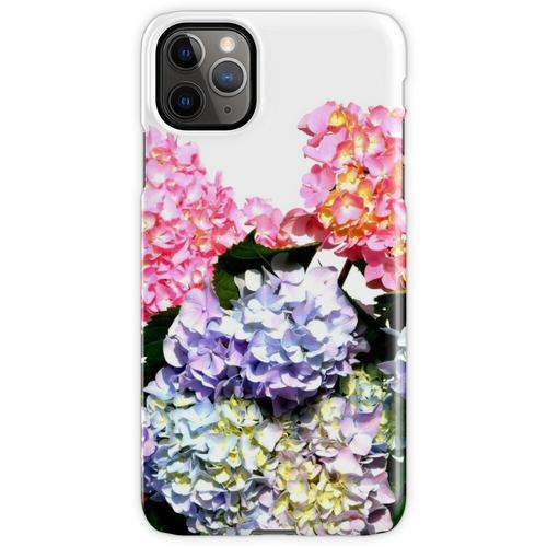 Rosa, lila und blaue Hortensien in Kristallvase iPhone 11 Pro Max Handyhülle