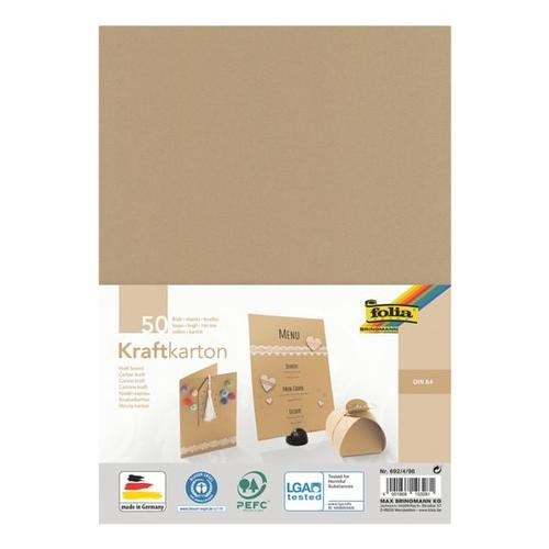 Kraftkarton (50 Blatt), folia