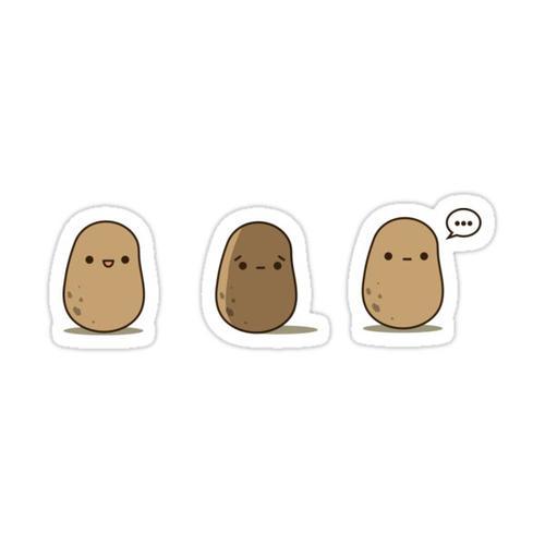 Potato emoticon set Sticker