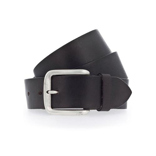 MUSTANG Ledergürtel, Mustang Schriftzug auf der Gürtelschlaufe braun Damen Ledergürtel Gürtel Accessoires