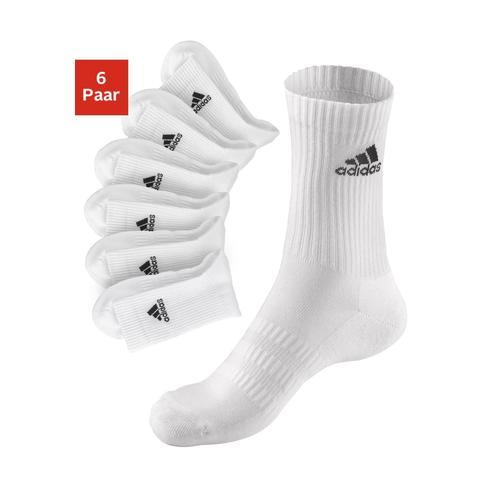 adidas Performance Tennissocken, (6 Paar), mit Vollfrottee weiß Damen Sportsocken Socken Herrenwäsche Tennissocken