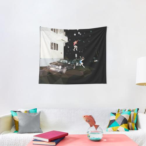 Science Fiction by Brand New - Poly Art Wall Tapestry