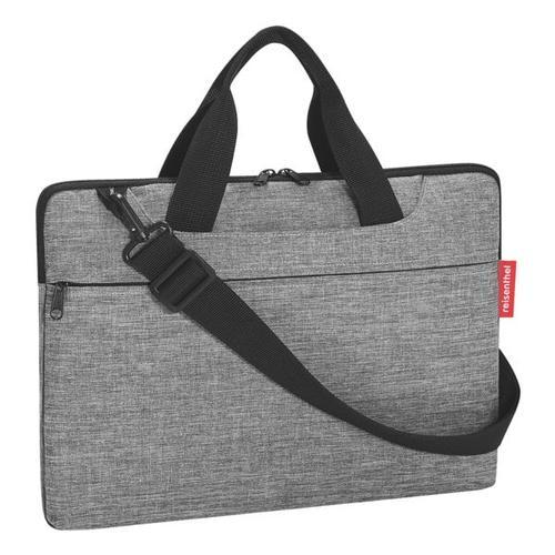 Laptoptasche »netbookbag - twist silver« silber, Reisenthel, 40x28.5x3.5 cm