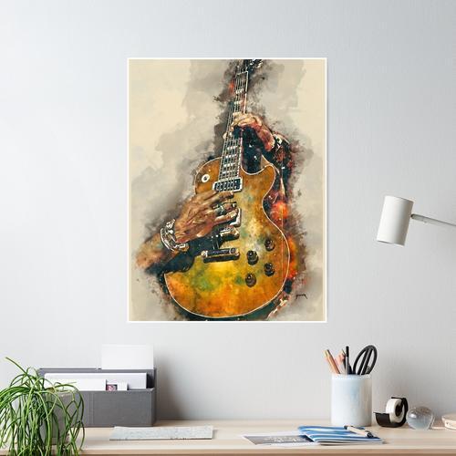 Slashs E-Gitarre Poster