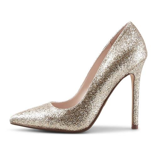 Buffalo, High-Heel-Pumps Amica in gold, Abendschuhe für Damen Gr. 36