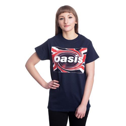 Oasis - Union Jack Navy - - T-Shirts