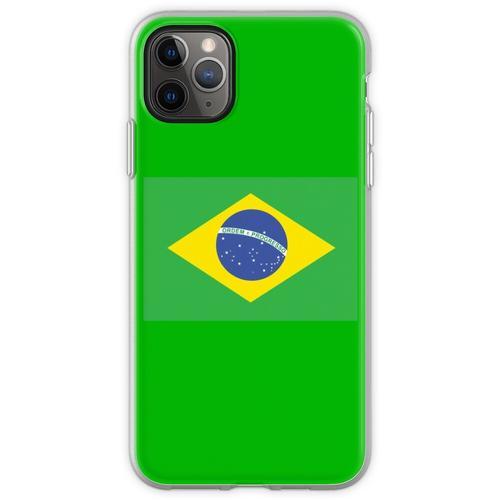 BRAZIL, BRAZILIAN FLAG, FLAG OF BRAZIL, PURE & SIMPLE, Brazil, Flexible Hülle für iPhone 11 Pro Max