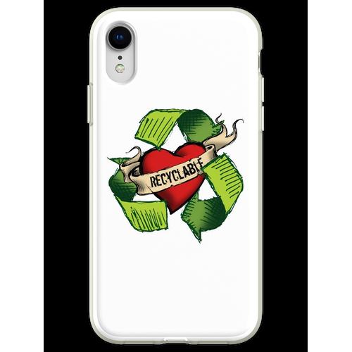 Ich bin recyclebar Flexible Hülle für iPhone XR