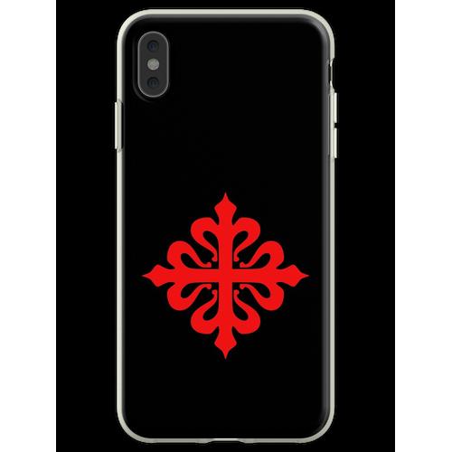 Calatrava Calatrava Kreuz Kreuz rot auf schwarz Flexible Hülle für iPhone XS Max