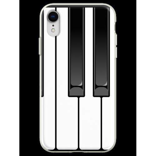 Klavier Oktave Flexible Hülle für iPhone XR