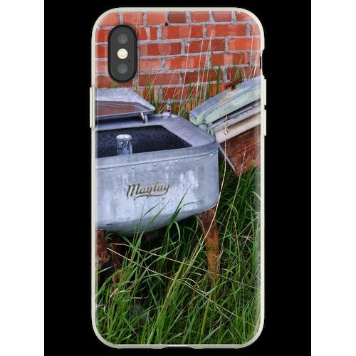 Antique Wringer Waschmaschine und Waschmaschine Flexible Hülle für iPhone XS