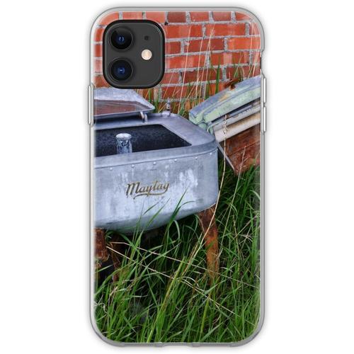 Antique Wringer Waschmaschine und Waschmaschine Flexible Hülle für iPhone 11