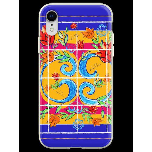 Majolika-Fliesen, Majolika-Design, Majolika Italien Flexible Hülle für iPhone XR