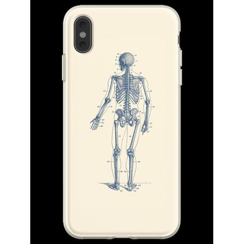 Rückwärtsgerichtetes Skelett-Diagramm Flexible Hülle für iPhone XS Max