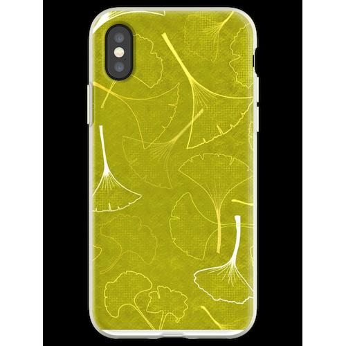 Denken Sie Ginkgo Green Flexible Hülle für iPhone XS