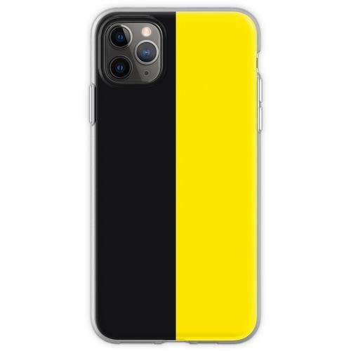 Watford Schwarzes und Gelbes Halbes Trikot Flexible Hülle für iPhone 11 Pro Max