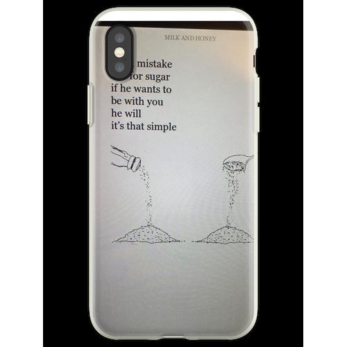 Salz für Zucker Flexible Hülle für iPhone XS