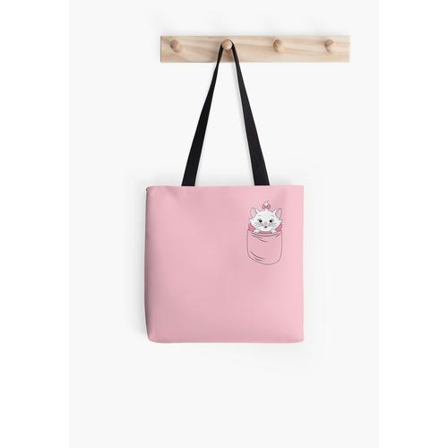 Eine Katze in einer Tasche Tasche