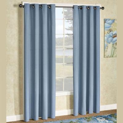 Glasgow Grommet Curtain Panel, 55 x 63, Steel Blue