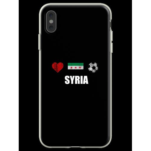 Syrien Fußballtrikot - Syrien Fußballtrikot Flexible Hülle für iPhone XS Max