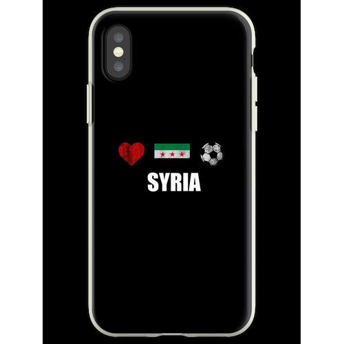 Syrien Fußballtrikot - Syrien Fußballtrikot Flexible Hülle für iPhone XS