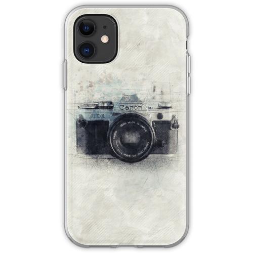 Canon Kunst, Canon Kamera, Canon Dekor, Kamera, Vintage Canon, Kamera A Flexible Hülle für iPhone 11