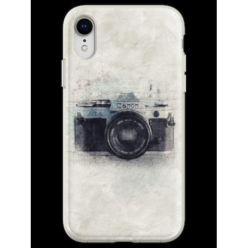 Canon Kunst, Canon Kamera, Canon Dekor, Kamera, Vintage Canon, Kamera A Flexible Hülle für iPhone XR