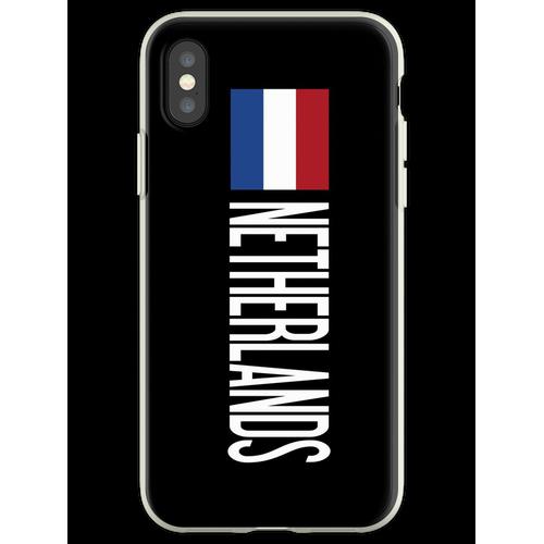 Niederlande: Niederländische Flagge und Niederlande Flexible Hülle für iPhone XS
