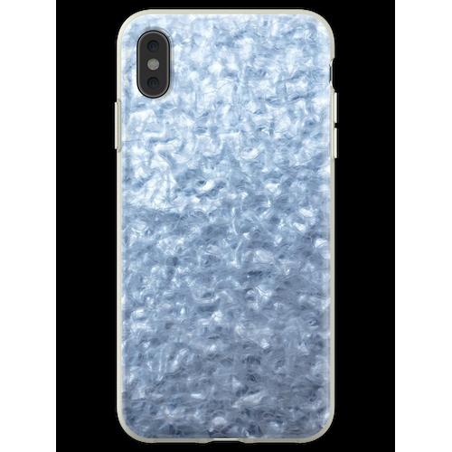 Eisige Textur. Wärmeisoliermaterial. Flexible Hülle für iPhone XS Max