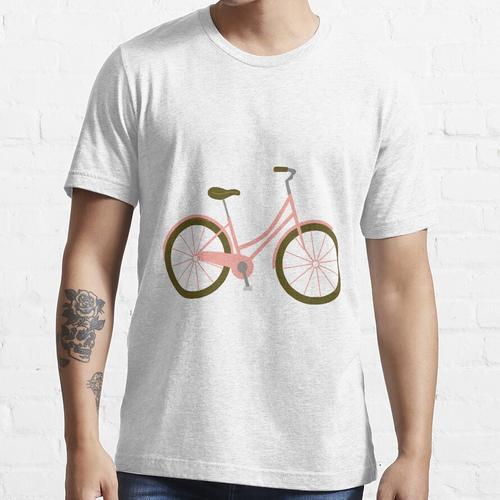 Niedliches Rosa Fahrrad im holländischen Stil Essential T-Shirt