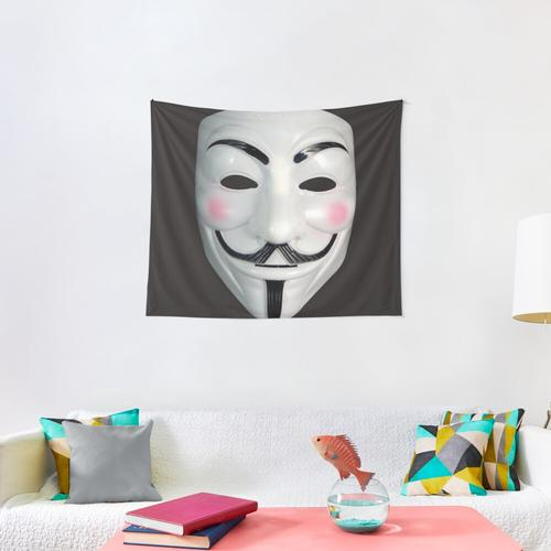 Game Master Mask Wall Tapestry