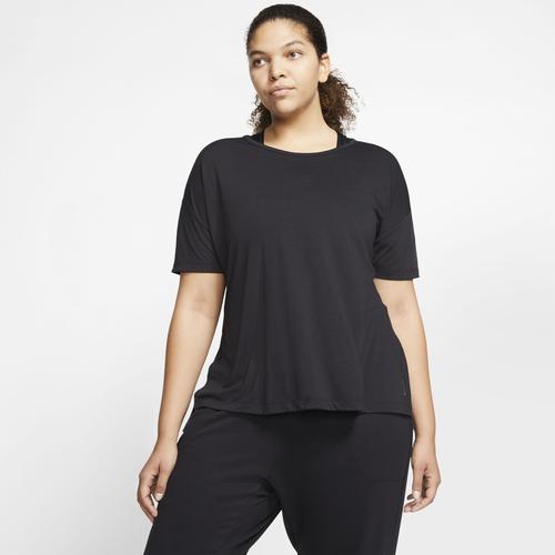 Nike Yogashirt NIKE WOMENS SHORT-SLEEVE YOGA TRAINING schwarz Damen
