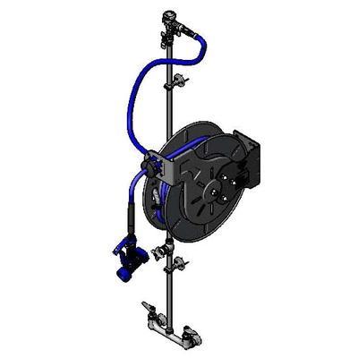 T&S B-1439 Open Hose Reel w/ 50 ft Hose & Mixing Faucet