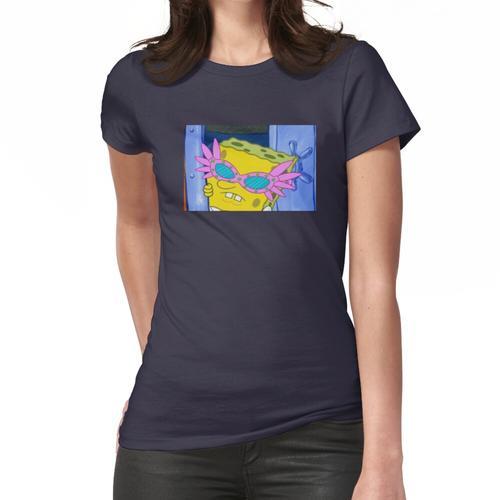 Rosa Brille Schwamm Junge Frauen T-Shirt