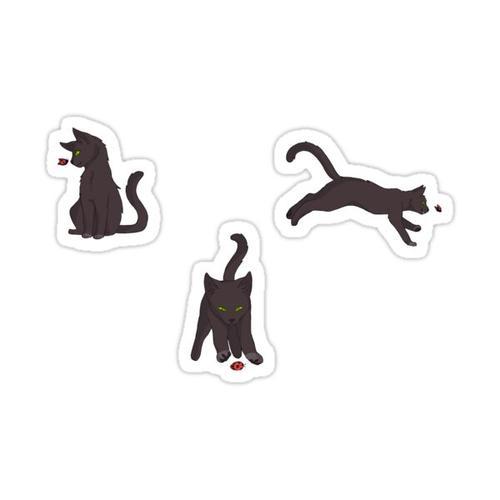Cat and Ladybug Pattern Sticker
