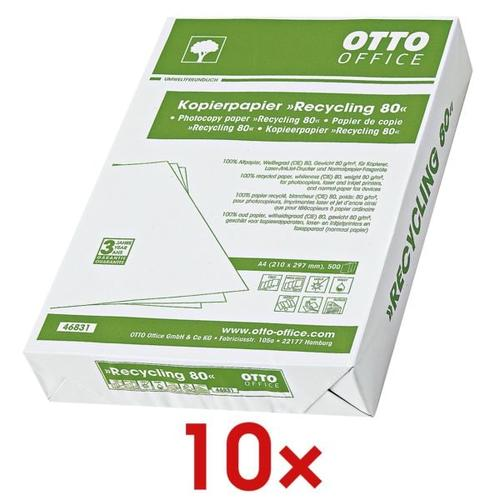 10x Recyclingpapier »Recycling« weiß, OTTO Office Nature