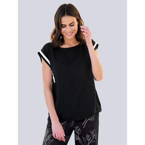 Alba Moda, Bluse in moderner Aufmachung, schwarz