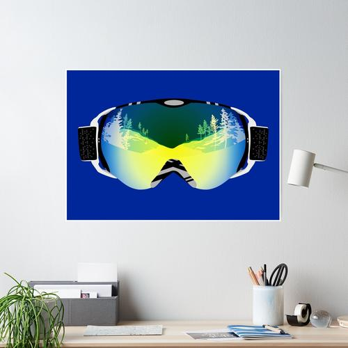 Skibrille Poster