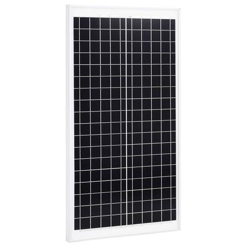 vidaXL Solarmodul 30 W Polykristallin Aluminium und Sicherheitsglas
