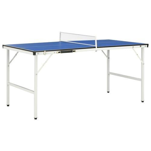vidaXL Tischtennisplatte mit Netz 5 Fuß 152×76×66 cm Blau