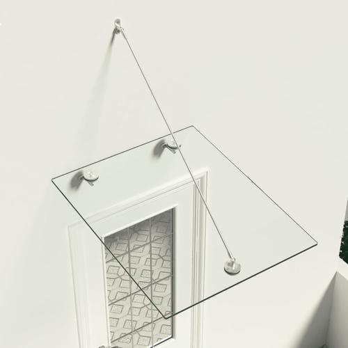 vidaXL VSG-Sicherheitsglas Haustür-Vordach 90×75 cm Edelstahl